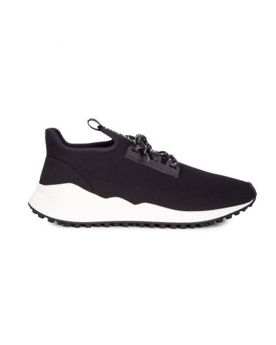 Czarne buty sportowe męskie z materiału