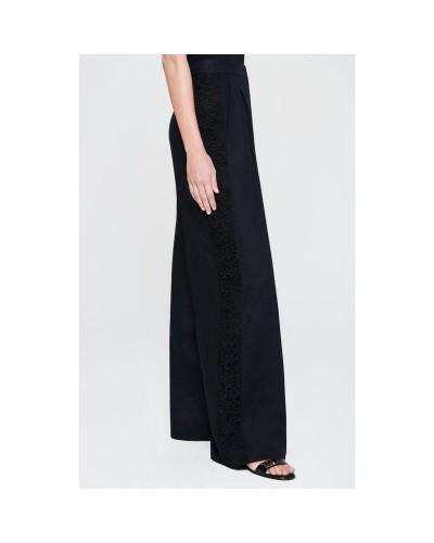 Czarne lniane spodnie damskie