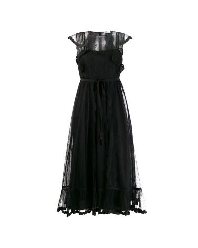 Czarna tiulowa sukienka