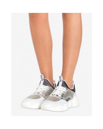 Srebrne buty sportowe damskie