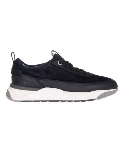 Granatowe zamszowe buty sportowe męskie