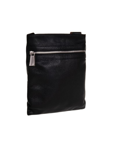 Czarna skórzana torba męska