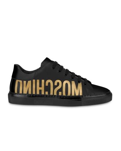 Czarne lakierowane sneakersy