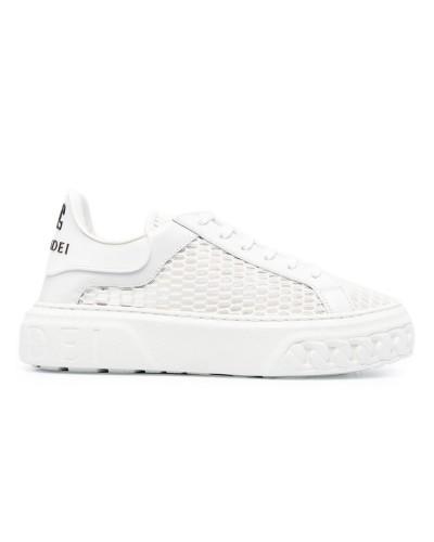 Białe siateczkowe sneakersy