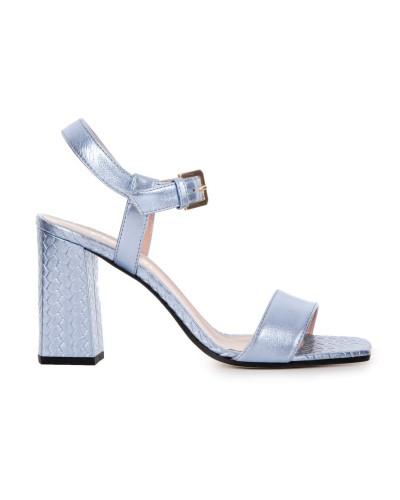 Błękitne skórzane sandały