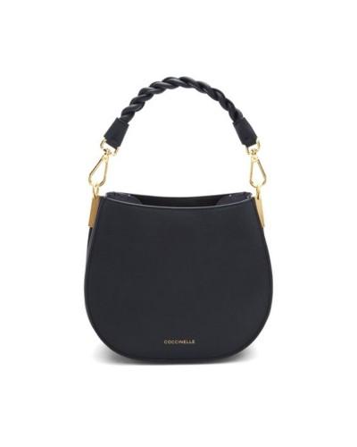 Czarna skórzana mała torebka