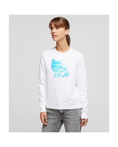 Biała bluza z kotem