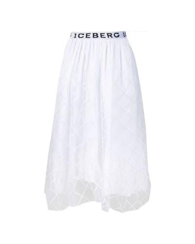 Biała spódniczka midi