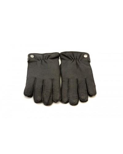 Czarne skórzane rękawiczki męskie