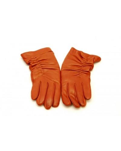 Rękawiczki w kolorze rudym