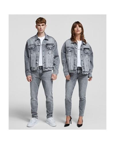 Szara jeansowa kurtka oversize
