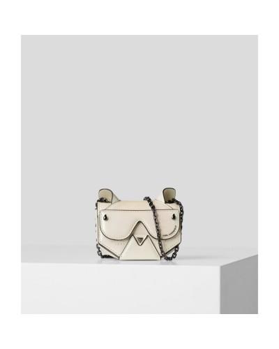 Biała skórzana mała torebka