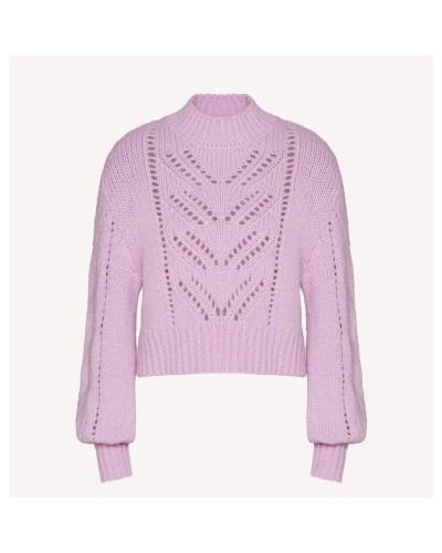 Sweter w kolorze lila