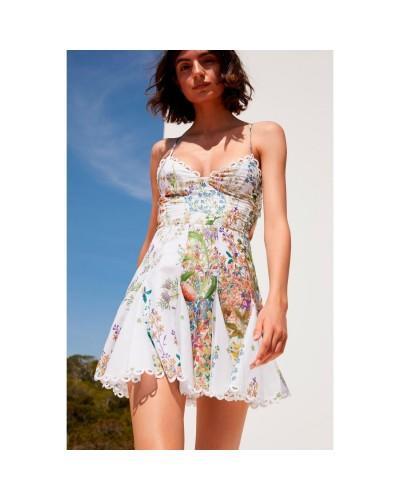 Sukienka w kolorowy print