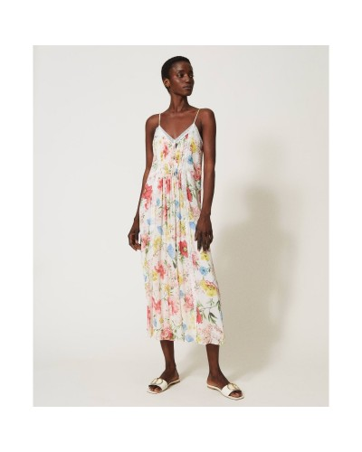 Kolorowa sukienka midi