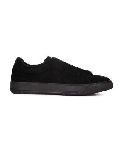 Czarne zamszowe sneakersy