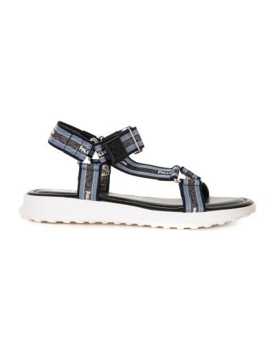 Granatowe sandały