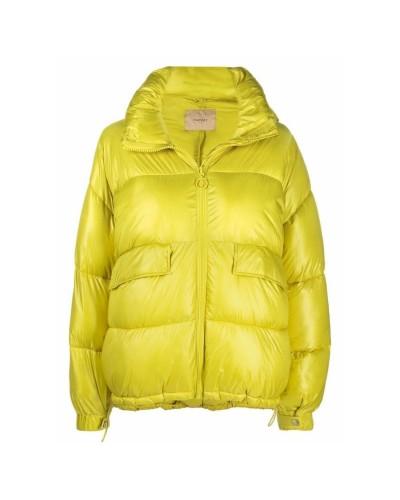 Żółta krótka kurtka puchowa