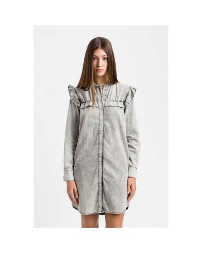 Szara jeansowa sukienka mini