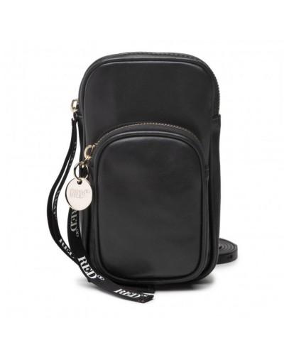 Czarna torebka do telefonu
