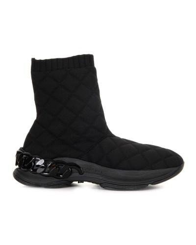 Czarne sneakersy z materiału