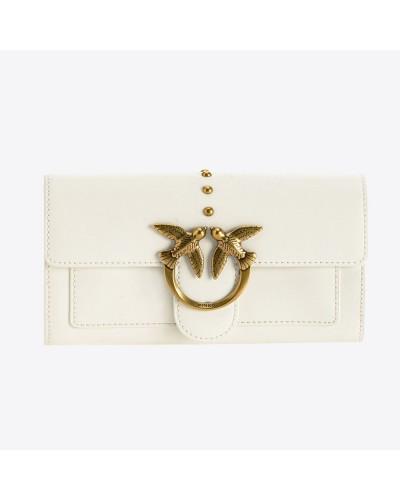 Biały skórzany portfel