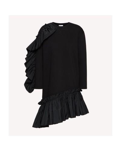Czarna dresowa sukienka mini