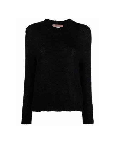 Czarny moherowy sweter