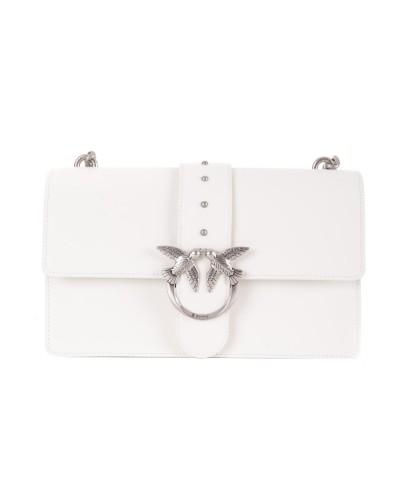 Biała skórzana duża torebka