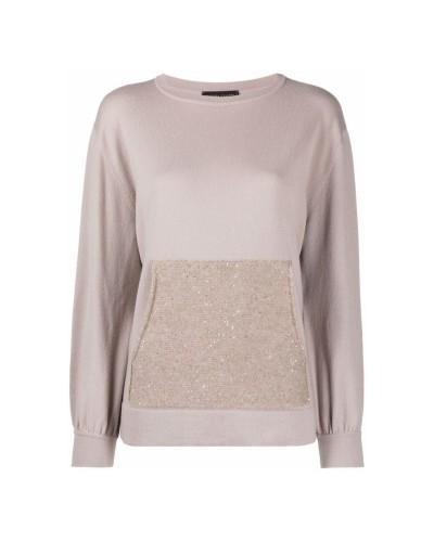 Beżowy kaszmirowy sweter