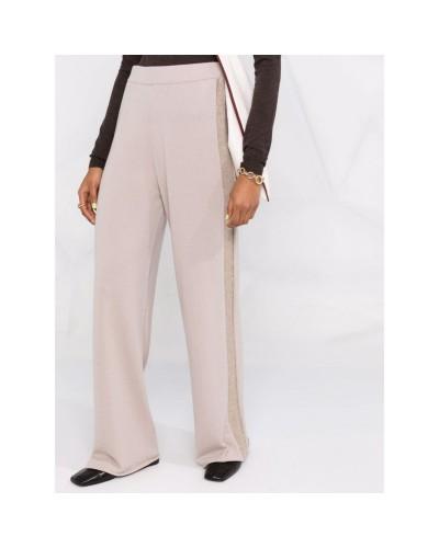 Beżowe kaszmirowe spodnie