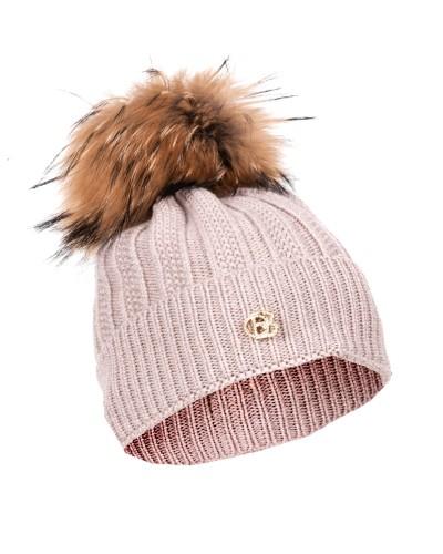Beżowa wełniana czapka