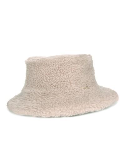 Biały wełniany kapelusz