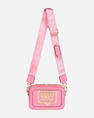 Różowa skórzana torebka