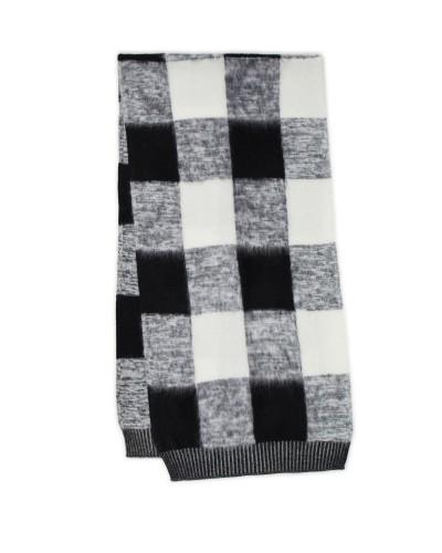 Czarno biały szalik