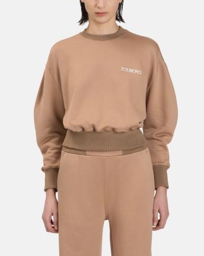 Brązowa krótka bluza
