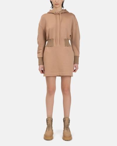 Brązowa sukienka mini