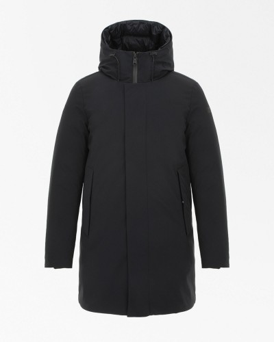 Czarna kurtka puchowa męska