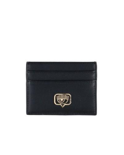 Czarny skórzany portfel do kart