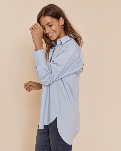 Niebieska koszula oversize