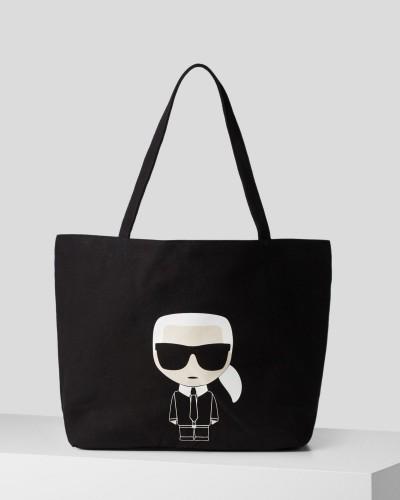 Czarna materiałowa torba szoperka