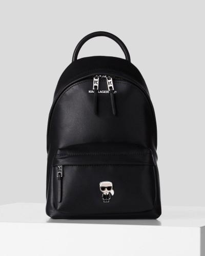 Czarny skórzany plecak