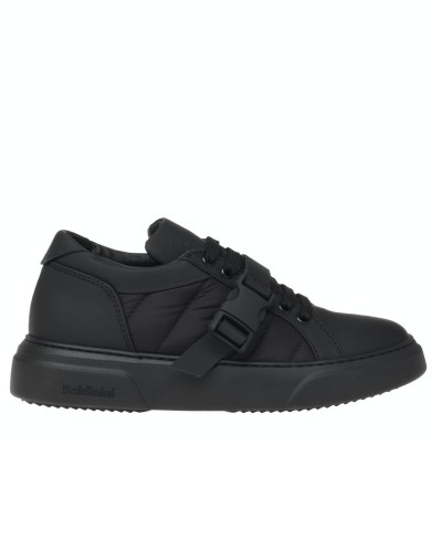 Czarne skórzane sneakersy