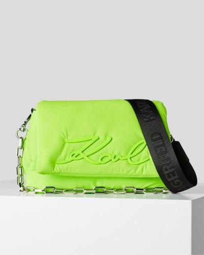 Zielona neonowa torebka