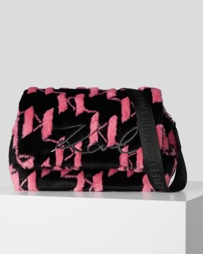 Czarno różowa torebka