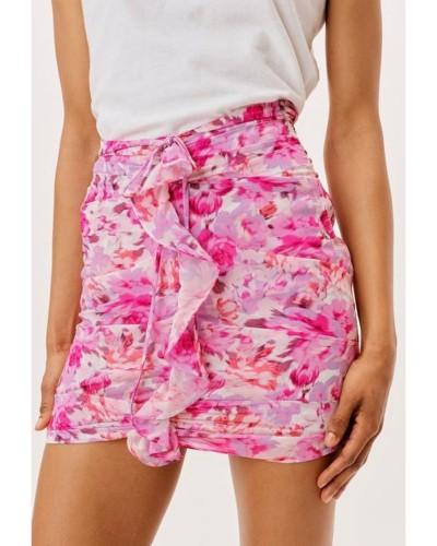 Różowa spódniczka mini