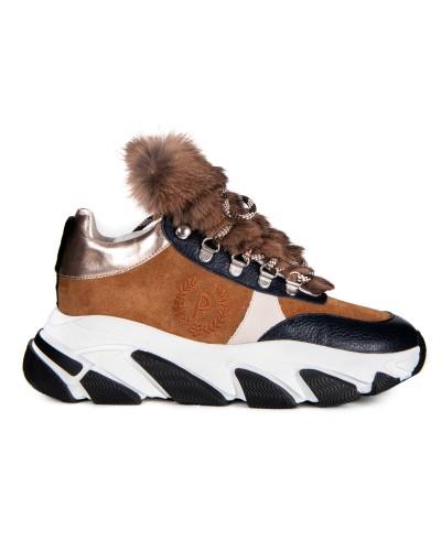 Brązowe zamszowe sneakersy