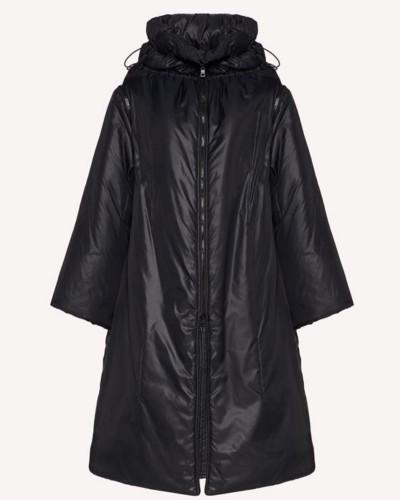 Czarny oversizowy płaszcz