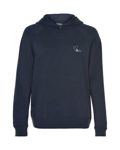 Granatowa bluza dresowa z kapturem
