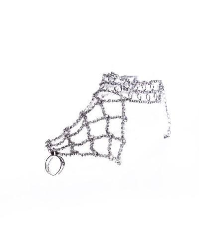 Srebrna biżuteria na stopę